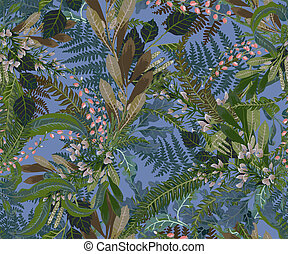 Vector designer elements of collection set of green forest fern, tropical green eucalyptus foliage art foliage natural grass leaves foliage in watercolor style. Decorative beauty elegant illustration for design.