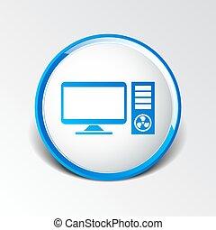 Vector Desktop Computer Icon pc symbol laptop