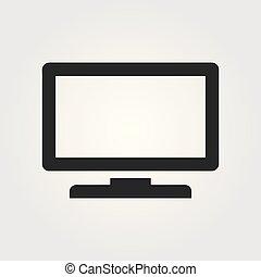 Vector Desktop Computer Icon.