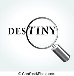 Vector destiny concept illustration