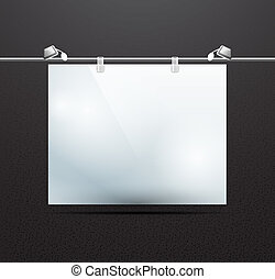 Vector detailed illustration of screen for ad - Vector...