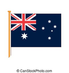 Vector detailed reproduction of the official flag Australia
