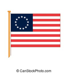 Vector detailed reproduction of the official flag American...