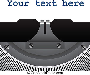 vector, detalle, de, vendimia, máquina de escribir