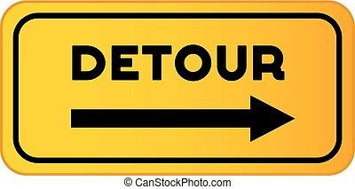 Vector Detour Road Sign