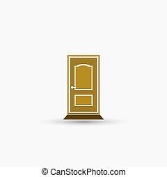 vector, deur, pictogram
