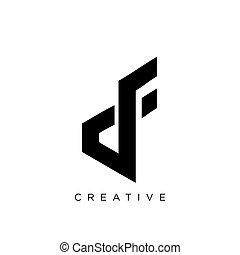 vector, df, symbool, logo, ontwerp, pictogram
