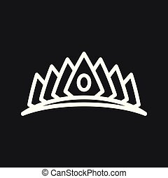Vector Diadem icon in flat style. Royalty crown illustration pictogram.