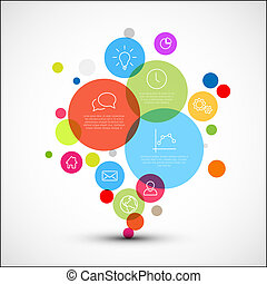 Vector diagram infographic template with various descriptive circles