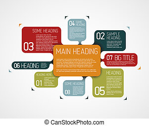 Vector diagram template with various descriptive bubbles -...
