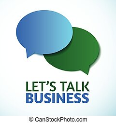 vector dialog clouds, let's talk business