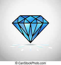 vector diamond - Abstract diamond icon or symbol vector...