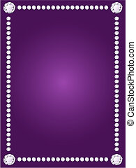 Vector diamond frame on violet background - Vector shiny...