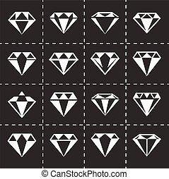 Vector Diamond icon set