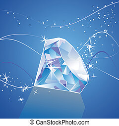vector diamond  - vector illustration of a diamond