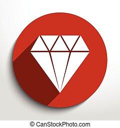 Vector diamond web icon.