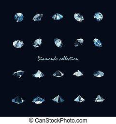 vector diamonds collection