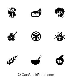 Vector Diet icon set
