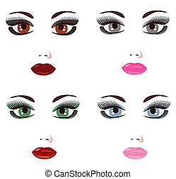 make up - vector different make up