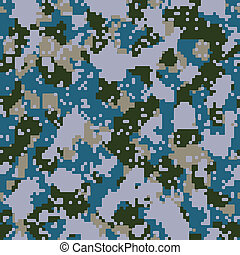Vector digital blue navy camo