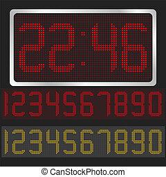 Vector digital clock