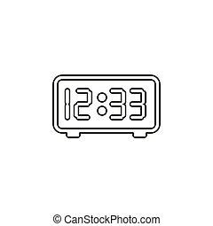 vector digital display clock illustration - timer