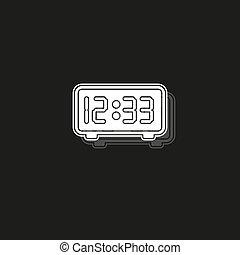 vector digital display clock illustration - timer countdown