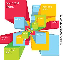 Vector digital explosion background for presentation
