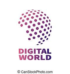 Vector digital global technology concept