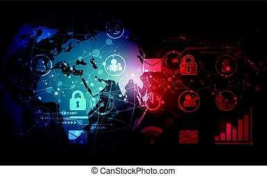 vector digital global technology interface, abstract background