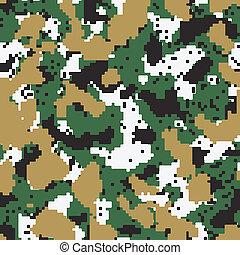 Vector digital green seamless camo