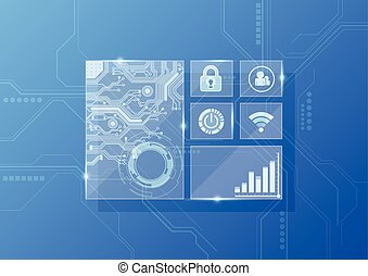 vector digital technology interface, abstract background