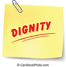 Vector dignity message - Vector illustration of dignity ...
