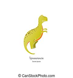 Vector dinosaur illustration - Vector illustration of hand...