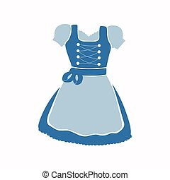 Vector Dirndl Dress - Vector Illustration of a Dirndl Dress