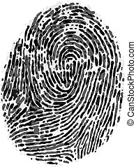Vector dirty fingerprint on white background