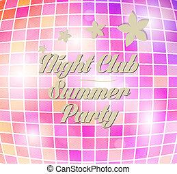 vector disco party flyer