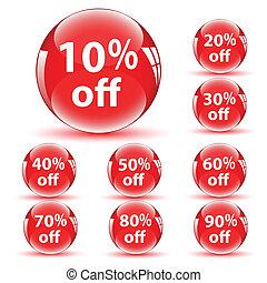 Vector Discount Icons - Creative Abstract Conceptual...