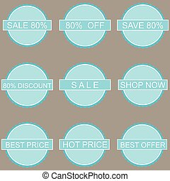 Vector Discount Labels and Tags