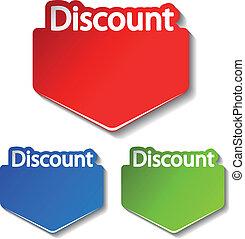 Vector discount labels