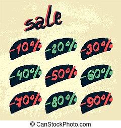 Vector discount labels.