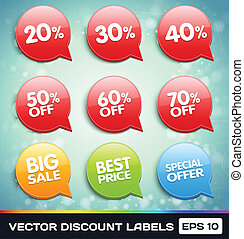 Vector Discount Labels (Tags)