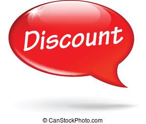 Vector discount speech bubble