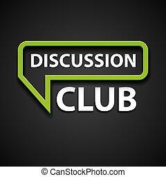vector discussion club icon