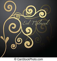 vector, diseño, eid, mubarak