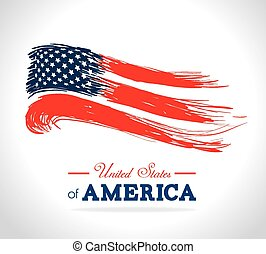 vector, diseño, estados unidos de américa, illustration.