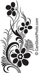 vector, diseño floral