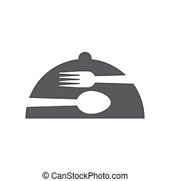 vector, diseño gráfico, aislado, cloche, plantilla