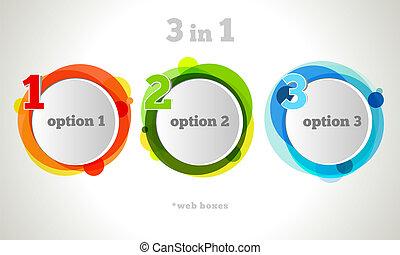 vector, diseño gráfico, botón, y, etiquetas, plantilla