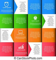 vector, diseño, ilustración, elementos, infographics